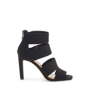 Jessica Simpson Womens Cerina Fabric Open Toe Black Size 8